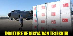 İngiltere ve Rusya'dan Türkiye'ye teşekkür