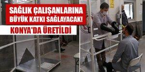 Sağlık çalışanlarına büyük katkı sağlayacak! Konya'da üretildi