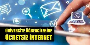Üniversite öğrencilerine ücretsiz internet
