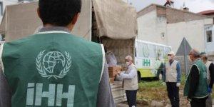 Nevşehir'de İHH gönüllüleri mağdur ailelere gıda yardımı ulaştırıyor