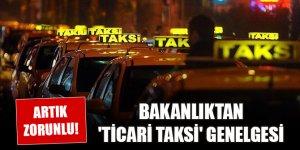 İçişleri Bakanlığından 'ticari taksi' genelgesi