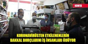 Koronavirüsten etkilenenlerin bakkal borçlarını iş insanları ödüyor