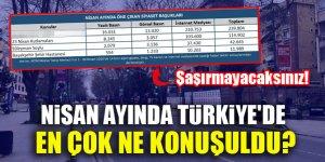 Nisan ayında Türkiye'de en çok ne konuşuldu? Şaşırmayacaksınız!