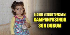 Biz Bize Yeteriz Türkiyem Kampanyası'na destek 2 milyar lirayı geçti