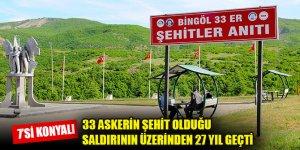 33 askerin şehit olduğu terör saldırısının üzerinden 27 yıl geçti