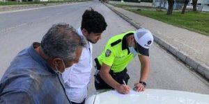 Babası ile trafiğe çıktı, 3150 lira ceza yedi