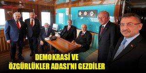Erdoğan ve Bahçeli, Demokrasi ve Özgürlükler Adası'nda
