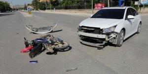 Konya'da otomobil ile motosiklet çarpıştı: 1 yaralı