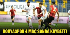 Konyaspor 4 maç sonra kaybetti