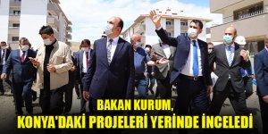 Bakan Kurum, Konya'daki kentsel dönüşüm alanında incelemelerde bulundu