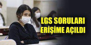LGS kapsamındaki merkezi sınavın soru kitapçığı ve cevap anahtarı yayımlandı