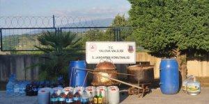 Yalova'da 5 bin 500 litre kaçak içki ele geçirildi