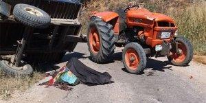 Devrilen traktördeki 2 kişi öldü