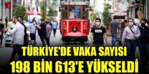 Türkiye'de vaka sayısı 198 bin 613'e yükseldi