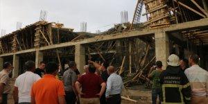Aksaray'da inşaatta meydana gelen çökmede iki işçi yaralandı