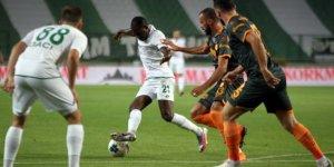 Konyaspor: 2 -  Aytemiz Alanyaspor: 0 (İlk yarı sonucu)