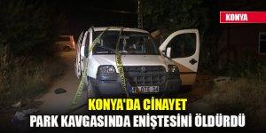 Konya'da cinayet! Park kavgasında eniştesini öldürdü