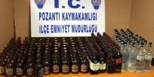 Adana'da kaçak ve sahte içki operasyonu