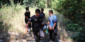 Bursa'da kayalıklardan düşen kişi yaralandı