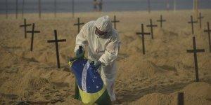 Kovid-19 nedeniyle son 24 saatte Brezilya'da 1054, Hindistan'da 945, Meksika'da 504 kişi öldü
