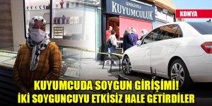 Konya'da kuyumcuda soygun girişimi! İki soyguncuyu etkisiz hale getirerek polise teslim etti