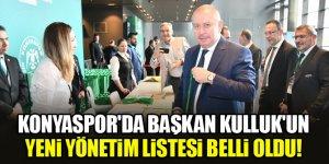 Konyaspor'da Başkan Hilmi Kulluk'un yeni yönetim listesi belli oldu!