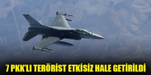 Irak kuzeyinde 7 PKK'lı terörist etkisiz hale getirildi