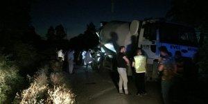 Samsun'da beton mikseri ile çarpışan motosikletin sürücüsü öldü
