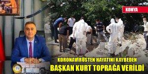 Koronavirüsten hayatını kaybeden Başkan Mehmet Yüksel Kurt toprağa verildi