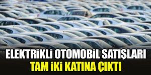 Elektrikli otomobil satışları tam iki katına çıktı