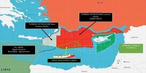 Dışişleri Bakanlığı, Oruç Reis'in faaliyet sahasını gösteren haritayı paylaştı