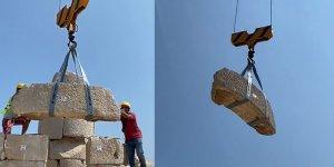 2 tonluk blok, 1958 yıl sonra yerinden kaldırıldı