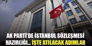 AK Parti'de İstanbul Sözleşmesi hazırlığı… İşte atılacak adımlar
