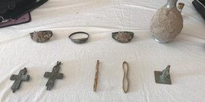 Yozgat'ta 9 parça tarihi eser ele geçirildi