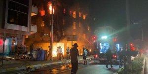 4 katlı apartmanda yangın çıktı