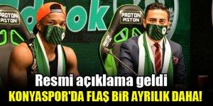 Konyaspor'da flaş bir ayrılık daha! Resmi açıklama geldi