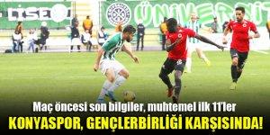 Konyaspor, Gençlerbirliği deplasmanında!