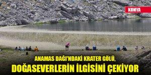 Anamas Dağı'ndaki krater gölü, doğaseverlerin ilgisini çekiyor