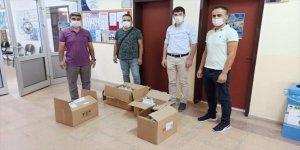 Derebucak'ta okullara dezenfektan, çocuk maskesi ve hijyen malzemeleri dağıtıldı