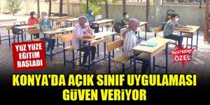 Konya'da açık sınıf uygulaması güven veriyor