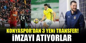 Konyaspor'dan 3 yeni transfer! İmzayı atıyorlar