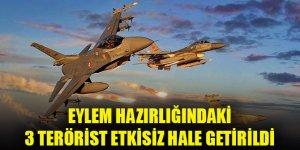 Metina bölgesinde 3 PKK'lı terörist etkisiz hale getirildi