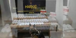 Konya'da uygulama noktasında durdurulan araçta 18 kilogram esrar ele geçirildi