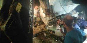 Bursa'da kamyonet şarampole yuvarlandı: 2 yaralı