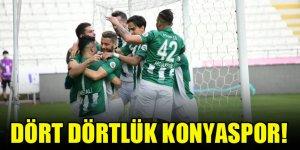 Dört dörtlük Konyaspor!