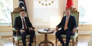 Cumhurbaşkanı Erdoğan'ın, Libya Başbakanı Fayiz es-Serrac'ı kabulü başladı