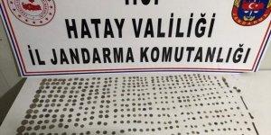 Hatay'da tarihi eser kaçakçılığı operasyonunda 516 sikke ele geçirildi
