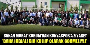 Bakan Kurum'dan Konyaspor'a ziyaret: Daha iddialı bir kulüp olarak görmeliyiz