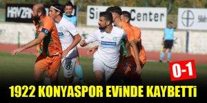 1922 Konyaspor evinde kaybetti; 0-1