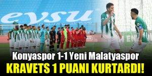 Konyaspor'da Kravets 1 puanı kurtardı!